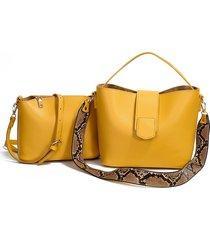 borsetta a due pezzi solid snake modello bucket borsa per le donne