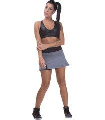 shorts saia fitness miss blessed premium tãªnis cinza - cinza - feminino - poliamida - dafiti