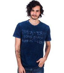 camiseta jeans long island pl masculina