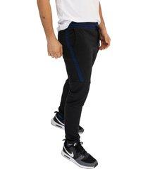 sudadera jogging negro/azuloscuro manpotsherd ref: sb