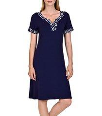 korte jurk lisca zomerjurk costa rica blauw korte mouwen