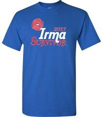 hurricane irma survivor 2017 men's tee shirt red cross donation 1682