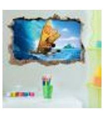 adesivo buraco na parede infantil moana 4 - g 65x100cm