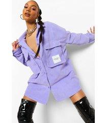 oversized corduroy blouse met utility zakken, lilac