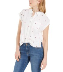 style & co watermelon-print camp shirt, created for macy's