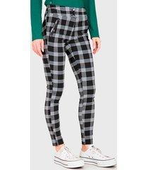 pantalón  ash  estampado negro - calce ajustado