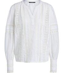 blouse met ajour details amee  wit