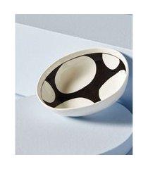 vaso estampado em cerâmica cor: preto e branco - tamanho: único
