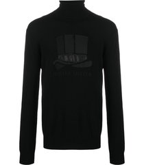viktor & rolf top hat roll neck jumper - black