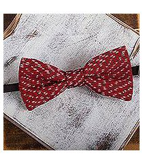 cotton bow tie, 'crimson charm' (mexico)