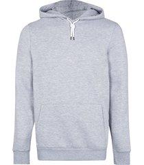 river island mens grey marl slim fit basic hoodie