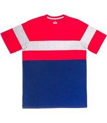 camiseta manga corta diseño rayas regular fit para hombre 94080