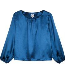aria blouse blue