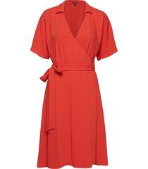 dresses light woven korte jurk rood esprit collection