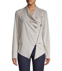 asymmetrical faux suede jacket