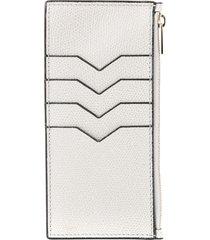 valextra zipped card case - grey