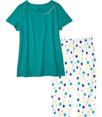 pigiama con pinocchietto (verde) - bpc bonprix collection