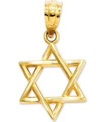 14k gold charm, 3d star of david charm