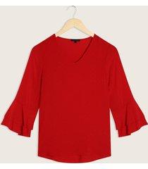 blusa manga 3/4 con vuelo en puño-l