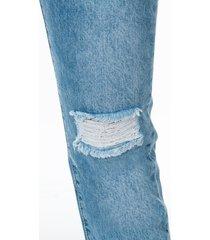 jean momfit desgaste en rodilla bota tubo