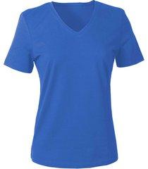 v-shirt voor haar, jeansblauw 36