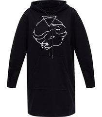 asymmetrische hoodie jurk