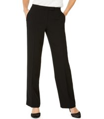 kasper tab-waist modern dress pants
