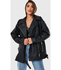 chaqueta missguided negro - calce oversize