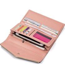 gran capacidad cartera para mujer/ bolso de embrague-rosa