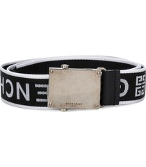 givenchy logo strap belt - black