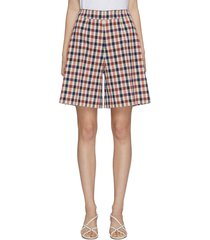 gingham check print shorts