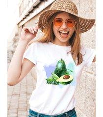 koszulka biała damska organiczna avocado