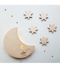 drewniana lampka nocna księżyc bob kinkiet