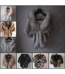 high-grade elegant bridal wedding faux fur long shawl stole wrap shrug scarf new