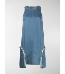 rick owens drkshdw zipped side pocket shift dress