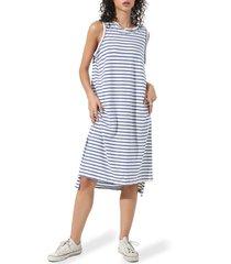electric & rose posey stripe sleeveless dress, size medium in clin cloud/indigo at nordstrom