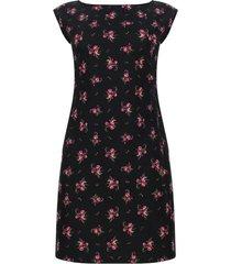 vestido estampado floral color negro, talla xs