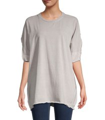 free people women's we the free shasta muscle t-shirt - white spruce - size l