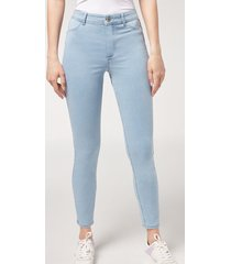calzedonia push-up and soft touch jeans woman blue size xs