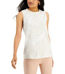 alfani petite printed high-neck knit top, created for macy's