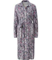 jurk lange mouwen en print van basler grijs