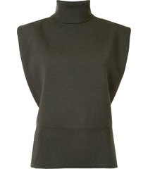 3.1 phillip lim sleeveless knitted top - green