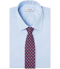 cravatta su misura, lanieri, paisley seta bordeaux, quattro stagioni