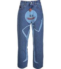 gcds man rick and morty blue denim jeans