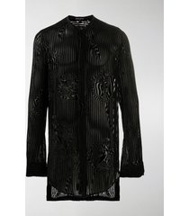 ann demeulemeester striped tunic shirt