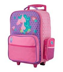 stephen joseph 18-inch rolling suitcase - white