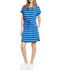 women's tommy bahama sombra stripe tie waist dress, size x-large - blue