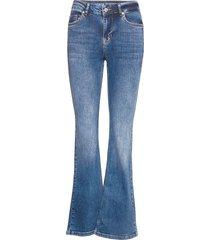 dhcelina bootcut high custom jeans utsvängda blå denim hunter