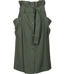 kenzo belted skirt with pockets