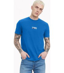 tommy hilfiger men's classic logo t-shirt french blue - s